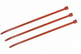 "8"" Plenum Rated Cable Ties Red  100 per Bag   50LBS."