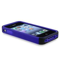 BasAcc Blue TPU/ Black Plastic Hybrid Case for Apple iPhone 4 AT&T BasAcc Cases & Holders