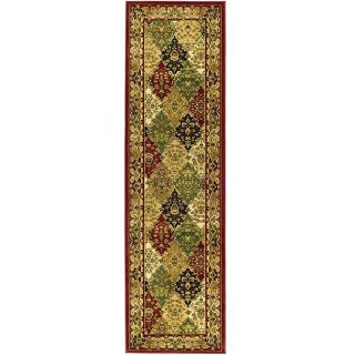 Lyndhurst Collection Multicolor/red Oriental Runner (23 X 6)
