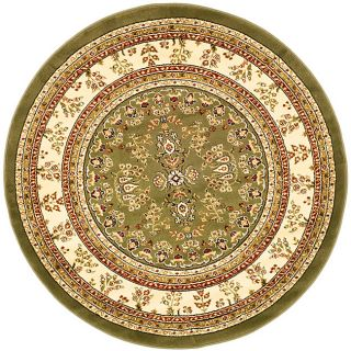 Lyndhurst Collection Large Sage/ivory Rug (8 Round)