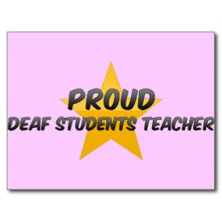 Proud Deaf Students Teacher Post Cards