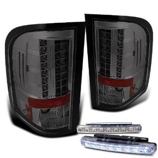 Rxmotoring 2007 2008 Chevy Silverado Tail Lights Led Lamp + 8 L.E.D Bumper Fog Lamps Automotive