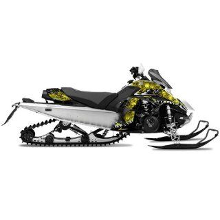 AMR Racing Yamaha Fx Nytro Sled Snowmobile Graphics Decal Kit Reaper Yellow Automotive