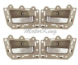 DS291 Tan Beige & Chrome 05 11 Jeep Grand Cherokee Set 4PCS Inside Door Handle 05 06 07 08 09 2010 2011 Automotive