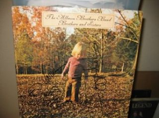 "* THE ALLMAN BROTHERS * signed ""Brothers and Sisters"" album cover / UACC RD # 212 Allman Brothers Entertainment Collectibles"