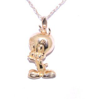 14K Yellow Gold Tweety Bird Charm Jewelry