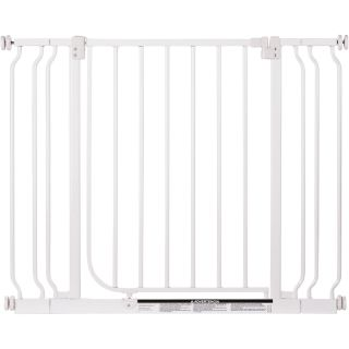 North States Easy-Close Metal Pet Gate with 2 Extensions, Model# 4910S  Pet Supplies