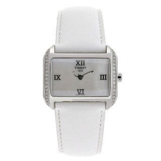 Tissot Women's T023.309.16.113.01 T Wave Mother Of Pearl Dial Leather Strap Watch at  Women's Watch store.