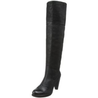 D Segno Women's Cuba Knee High Boot, Maya Black, 5 M US Shoes