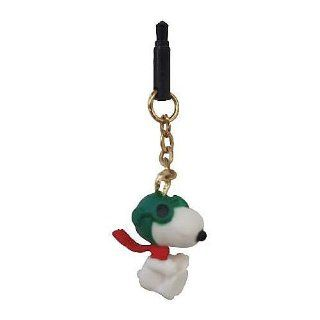 Peanuts Snoopy Charm Charapin Earphone Jack Accessory (Snoopy / Flying Ace) Cell Phones & Accessories