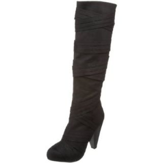 Unlisted Women's Tick Tuck Toe Knee High Boot, Black, 5.5 M US Shoes