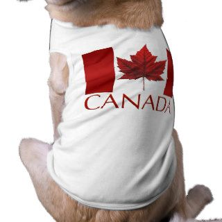 Canada Flag Dog T shirts Gifts Canada Pet Souvenir Dog Clothes