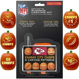 NFL Kansas City Chiefs Pumpkin Carving Kit  Sports Fan Wallets  Sports & Outdoors