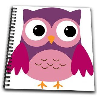 db_58278_1 Anne Marie Baugh Owls   Cute Purple Owl   Drawing Book   Drawing Book 8 x 8 inch