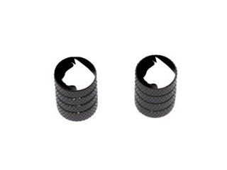 Cat Silhouette   Motorcycle Bike Bicycle   Tire Rim Valve Stem Caps   Black Automotive