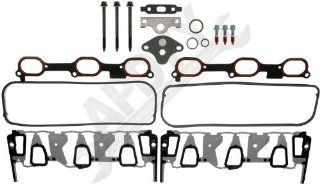 APDTY 726316 Intake Manifold Gasket Kit (Upgraded Metal Design) Includes Upper & Lower Intake Gaskets, EGR Valve Gasket, Valve Cover Gasket, O Rings, & Bolts for 3.1L/3.4L Engine (Replaces 19169127) Automotive