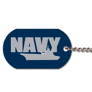 United States Navy Dog Tag   Support The United States Navy Today Sports & Outdoors