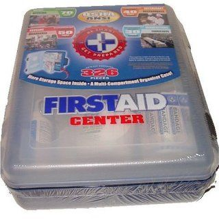First Aid Kit With Hard Case  326 pcs  First Aid Complete Care Kit   Exceeds OSHA & ANSI Guidelines   Ideal for the Workplace   Disaster Preparedness (Colors May Vary) Health & Personal Care
