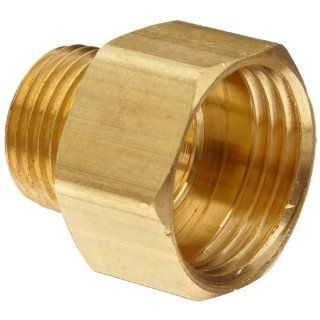 "Anderson Metals Brass Garden Hose Fitting, Connector, 3/4"" Female Hose ID x 1/2"" Male Pipe Industrial Pipe Fittings"