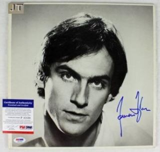 James Taylor Jt Signed Album Cover W/ Vinyl Psa/dna #p43530   Autographed CD's James Taylor Entertainment Collectibles