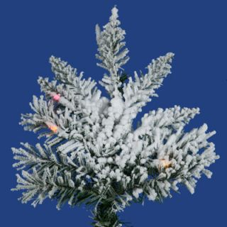 Vickerman Flocked Utica Fir 7.5 White Artificial Christmas Tree with