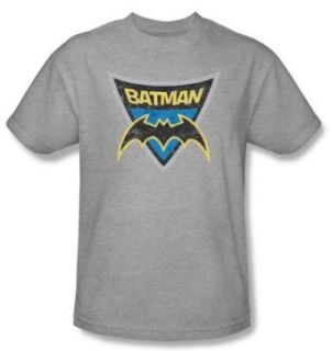 Batman Kids T Shirts   Batman Shield Youth Athletic Heather Tee Clothing