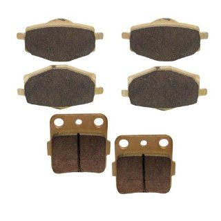Brake Pads Yamaha Warrior 350 YFM350 XT Front Rear Brakes 1987 Automotive