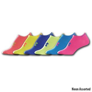 Under Armour Girls Neon No Show Liners 6 Pack 708469
