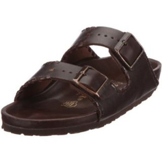 Birkenstock Sandals ''Arizona'' from Leather in Dark Brown Plaited Border with a regular insole Shoes
