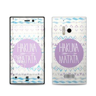 Hakuna Matata Design Protective Decal Skin Sticker (Matte Satin Coating) for Nokia Lumia 928 Cell Phone Cell Phones & Accessories