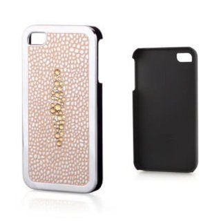 Bling Sting Ray Design Elegant Amber Peach and Pink Violet Case for Iphone 4 and 4s in Thick Chrome with Genuine Crystals Includes Screen Protector and Cleaning Cloth. High Quality and Stylish Hard Cover Case Comes in a Beautiful Gift Box Cell Phones &