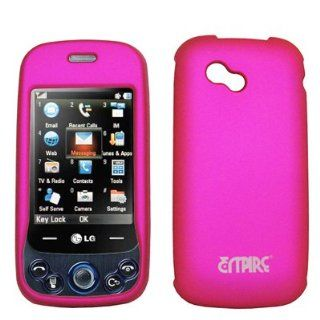 EMPIRE Hot Pink Rubberized Snap On Cover Case for AT&T LG Neon 2 GW370 Cell Phones & Accessories