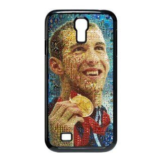 Customize World swimming champion Michael Phelps black (tpu) Case Fits and Protect Samsung Galaxy S4 I9500 Cell Phones & Accessories