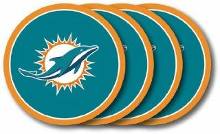 NFL Miami Dolphins Coasters (4 Pack)  Sports Fan Beverage Coasters  Sports & Outdoors