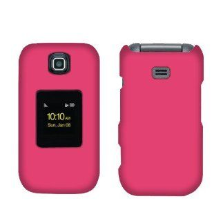 Samsung M370 Hot Pink Rubberized Cover Cell Phones & Accessories