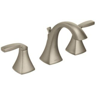Moen T6905BN Voss Two Handle High Arc Bathroom Faucet, Brushed Nickel   Touch On Bathroom Sink Faucets