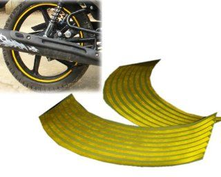 "16 18"" Yellow Wheel Rim Stripe Reflective Decal Tape Sticker for Car Motorcycle Cycling Bike Bicycle Automotive"