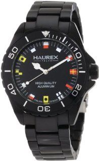 Haurex Italy Men's 7K374UNF Ink Black Aluminum Bracelet Watch Haurex Italy Watches
