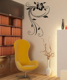 Vinyl Wall Decal Sticker Swirly Hibiscus OS_AA377B   Wall Decor Stickers