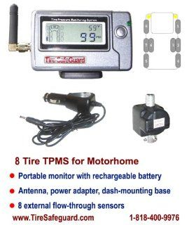 RV Flow Through 6 Tire Sensor Tire Pressure Monitoring System (TPMS)  Automotive Electronic Security Products