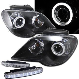 2007 Chrysler Pacifica Ccfl Halo Projector Headlights + 8 Led Fog Bumper Light Automotive
