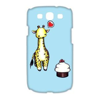 Custom Giraffe 3D Cover Case for Samsung Galaxy S3 III i9300 LSM 1592 Cell Phones & Accessories