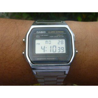 Casio Men's A158W 1 Classic Digital Stainless Steel Bracelet Watch Casio Watches