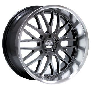 20x10 Axis Penta (Hyper Black w/ Machine Polished Lip) Wheels/Rims 5x114.3 (PEN0105H25HBL) Automotive