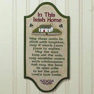 """In This Irish Home"" Irish Blessing 6"" x 12"" Wall Plaque   Decorative Plaques"