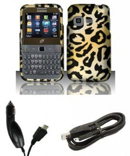 Samsung S390G   Accessory Combo Kit   Cheetah Design Shield Case + Atom LED Keychain Light + Micro USB Cable + Car Charger Cell Phones & Accessories