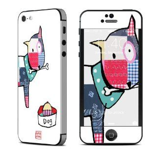 Patch Dog Design Protective Decal Skin Sticker (High Gloss Coating) for Apple iPhone 5 16GB 32GB 64GB Cell Phone Cell Phones & Accessories