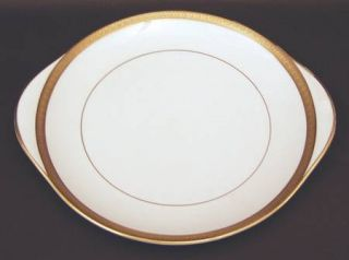 Royal Doulton Royal Gold Handled Cake Plate, Fine China Dinnerware   Bone,Gold E