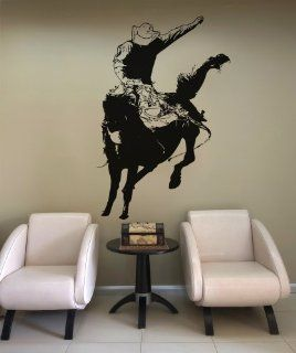 Vinyl Wall Decal Sticker Rodeo Bronc Rider OS_AA408B   Wall Decor Stickers