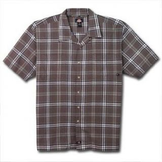 Dickies Easy Care Plaid Camp Shirt for Big Men at  Men�s Clothing store